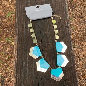 Dramatic Turquoise Arrow Statement Necklace